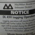 Public notice by MacMillan Bloedel Limited Powell River Peak, October 23, 1999