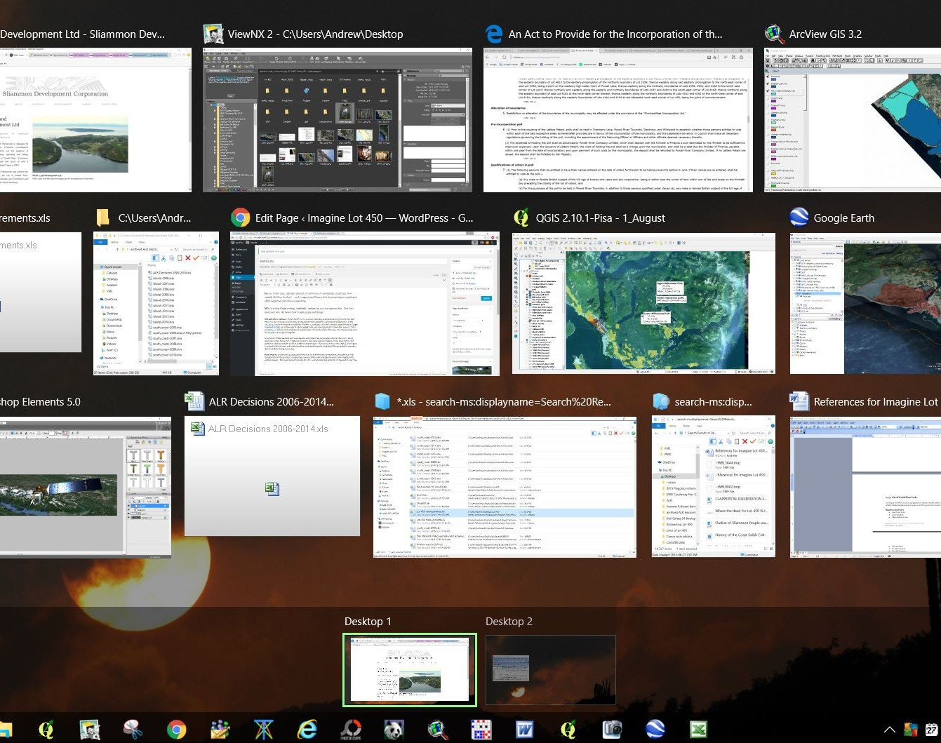 What my desktop looks like on a typical day...