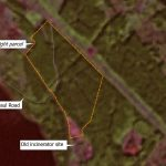 Landsat imagery showing the Sino Bright parcel and area of proposed ALR exclusion