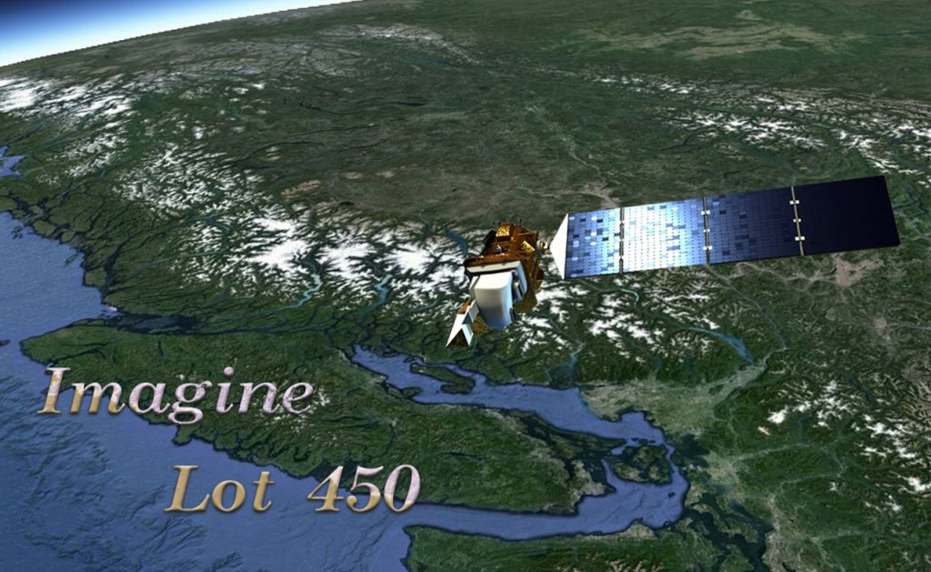 Landsat 8 approaching Powell River and Lot 450