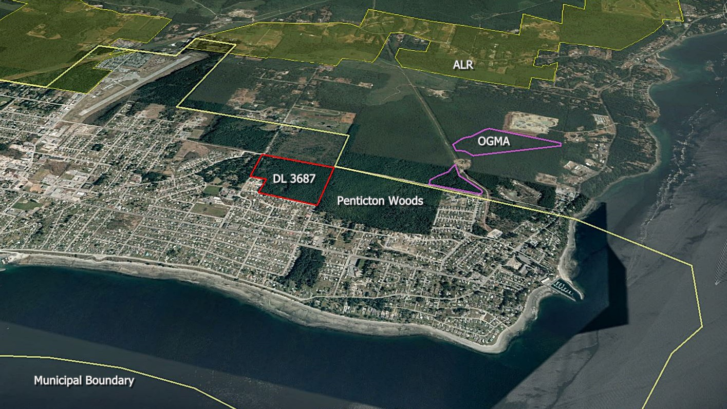 Proposed Incubator Farm location, District Lot 3687, Powell River, BC